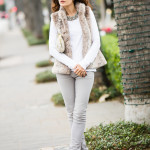 Anemic Gray Fur Vest – Gray Skinnies & Vintage Chanel