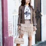 Sarah Jessica Parker – Tulle Skirt, Leather Jacket & Fabulous Shoes