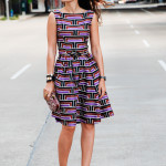 Purple Reigns – Geometric Fit and Flare