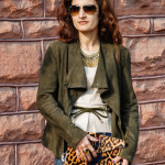 Leopard Accessories, Suede Jacket, Leather Peplum – Fall Weather Style