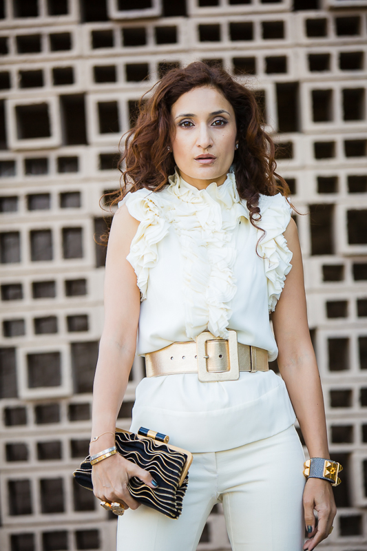 holiday style; holiday party outfit; chic monochromatic look; gold belt