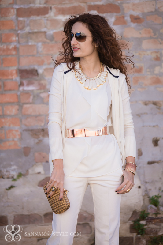 6387db097aa5 Winter White Casual - With A Touch of Rose Gold | Sannam and Style
