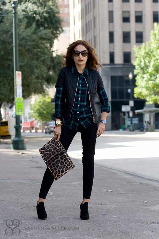 Casual Punk Chic , Plaid, Leopard and Leather