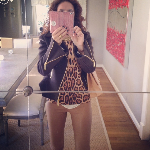 casual chic ootd, leopard vest, moto and leopard outfit, casual chic outfit