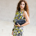 Abstract Butterfly – Pops of Neon & Studs