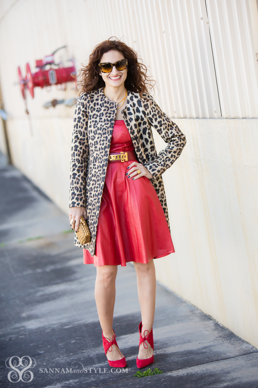 e5c86b387f4 Valentines Day OOTD: Red Leather and Leopard | Sannam and Style