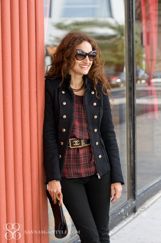 casual style, punk chic street style, plaid restyled, plaid trend