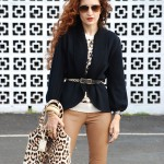 Spring Leopard – Leather, Grommets & Stripes