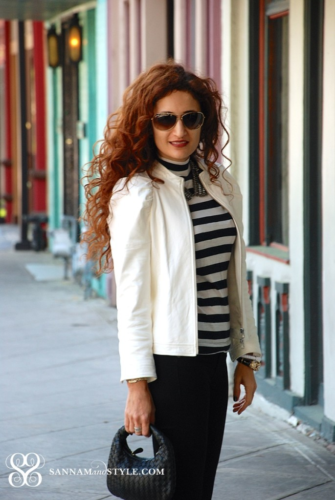 how to wear black and white trend street style white bomber houston fashion blogger zara booties