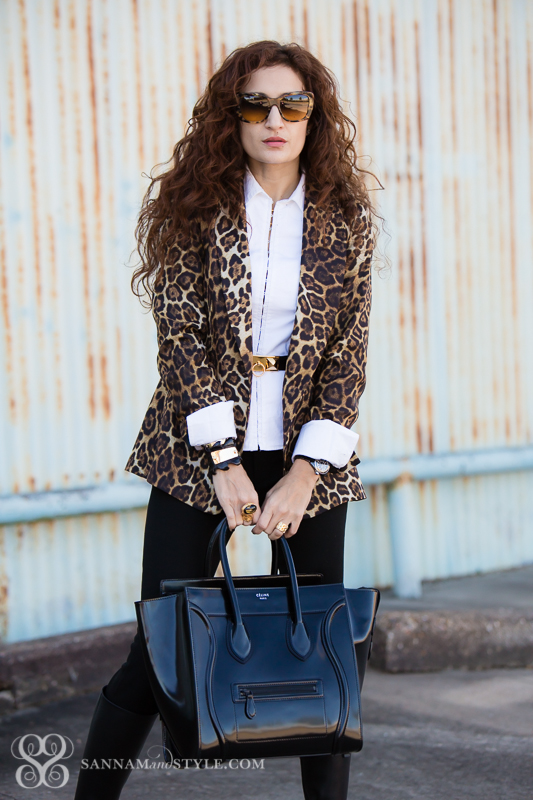 leopard street style, chic outfit, date night outfit, zara blazer