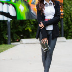 Multi-tasking OOTD – Blazer, Leather Leggings & Pops of Silver