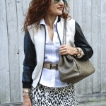 OOTD: Leopard Skater Skirt and Varsity Jacket