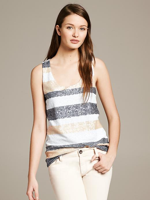 sequin top racer back neutral top banana republic sequin top chic trendy top