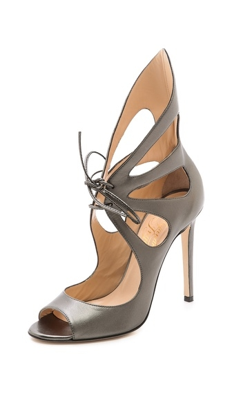 Shoes pron #tuesdayshoesday #butterfly sandals sexy shoes gunmetal shoes statement making shoes gorgeous shoes metallic stilettos