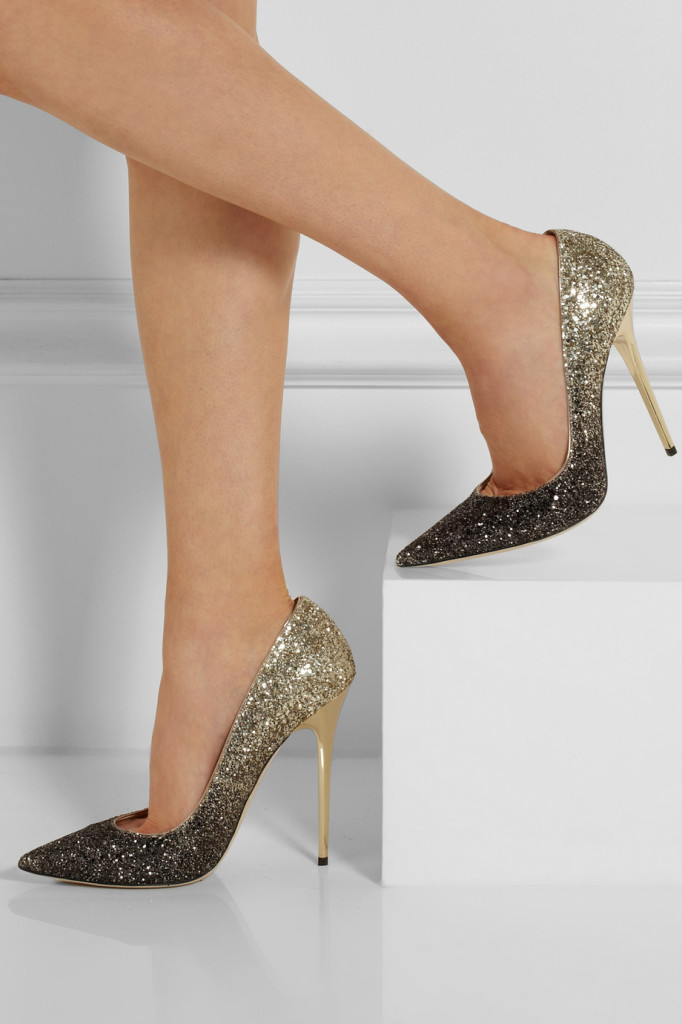 choos jimmy choo sparkle Anouk dégradé glitter-finished leather pumps glitter shoes ombre shoes shoehorn #tuesdayshoesday shoes day
