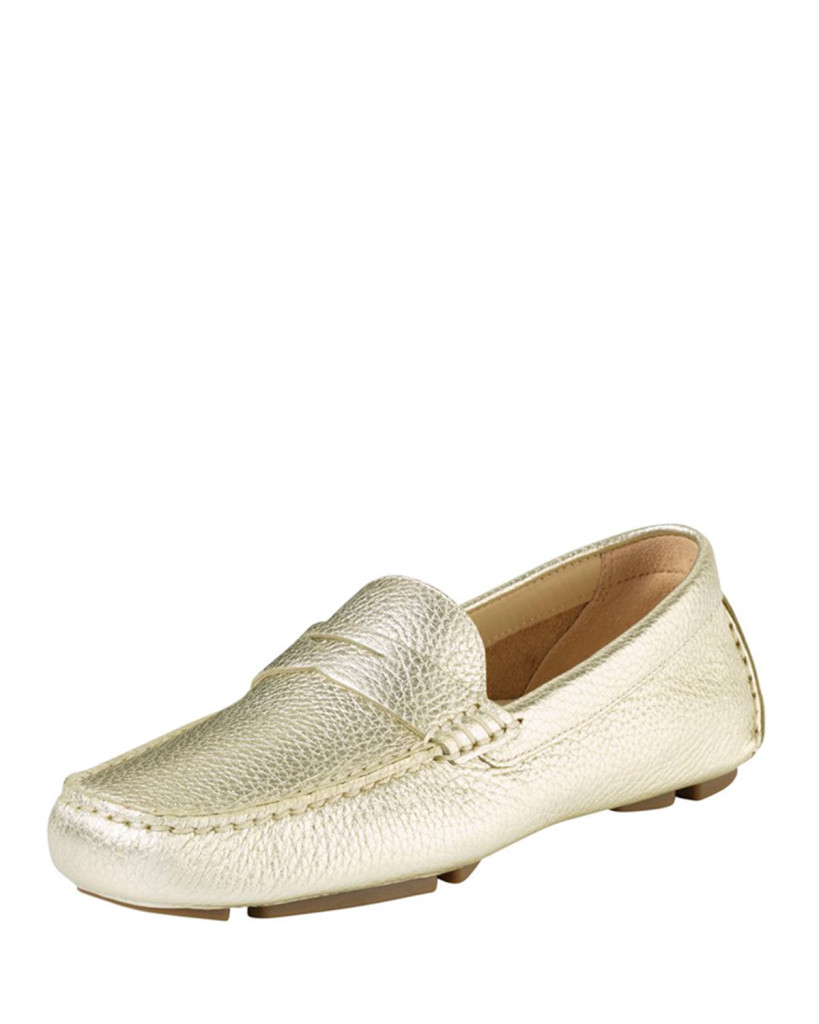 Cole Haan Trillby Metallic Leather Drivers comfortable shoes nike air shoes metallic shoes comfortable shoes vacay shoes lots of walking chic shoes gold shoes gold flats