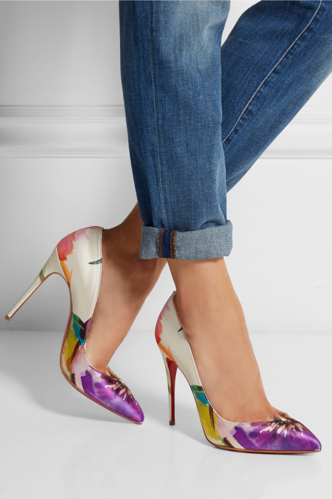 fabulous pumps stylish stiletto flower pattern shoes shoehorn #tuesdayshoesday