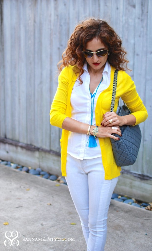 casual style gray and yellow combo chanel bag forever 21 sneakers j brand jeans houston fashion blogger
