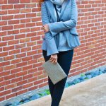 Banana Republic Finds – Gray Turtleneck and Faux-Suede Skinnies