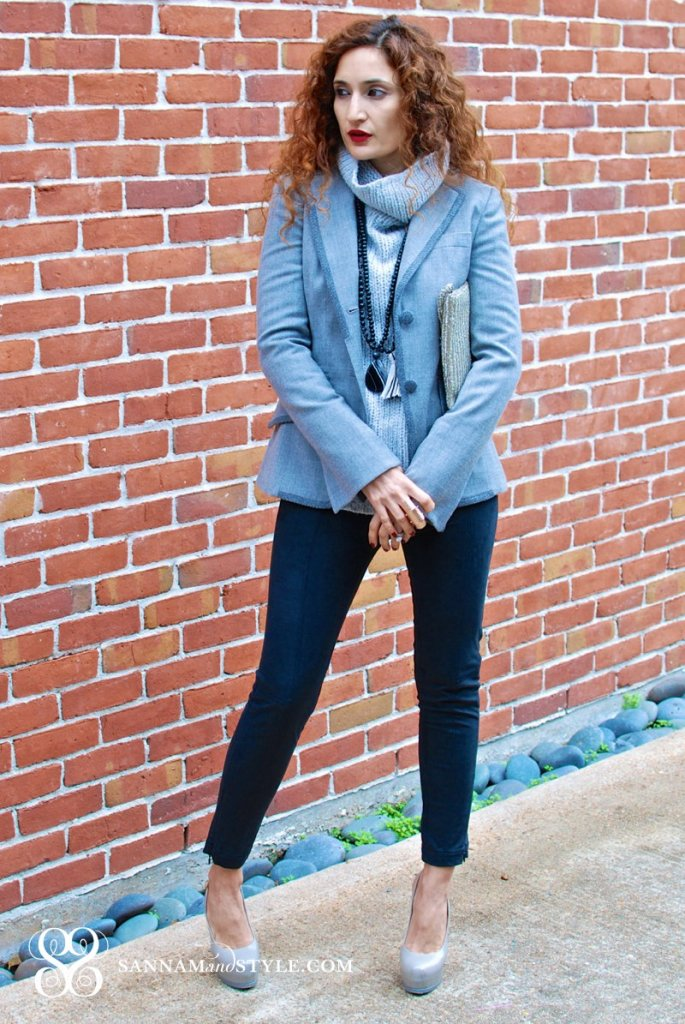 chic gray outfit banana republic sale the new BR marisa webb is awesome sannam and style fashion blogger
