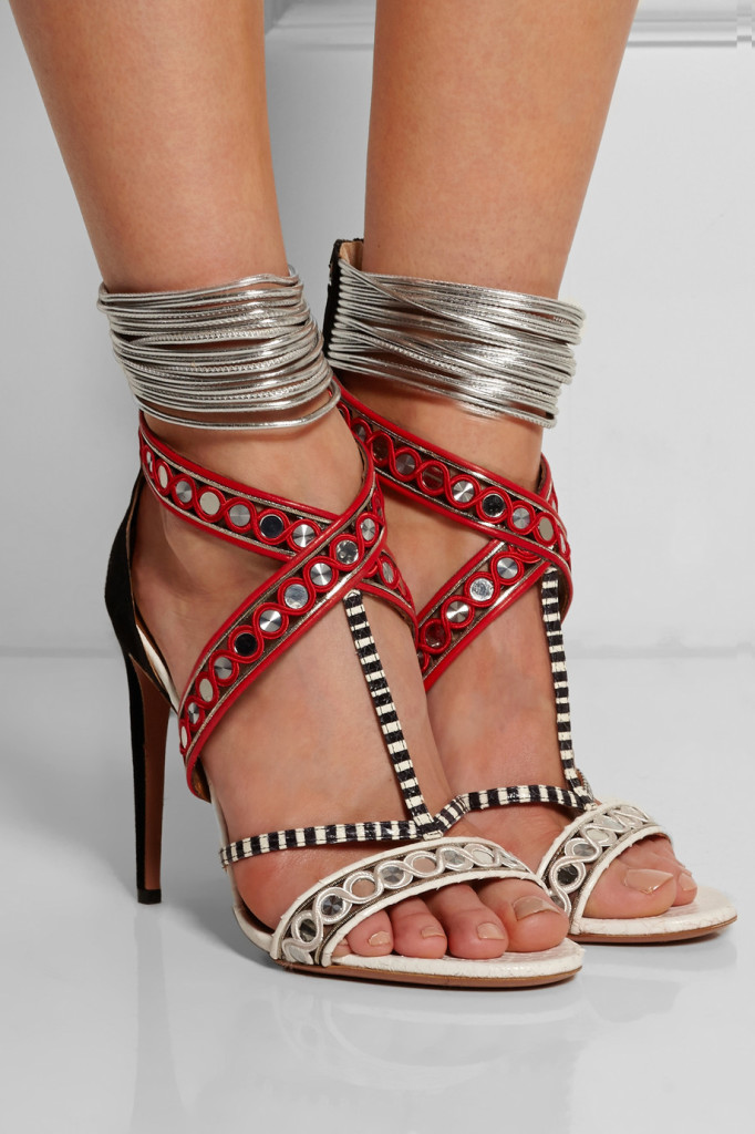 aquazzurra the queen shoes net a porter black silver red strappy sandals  sexy shoes tuesdayshoesday shoes day shoehorn