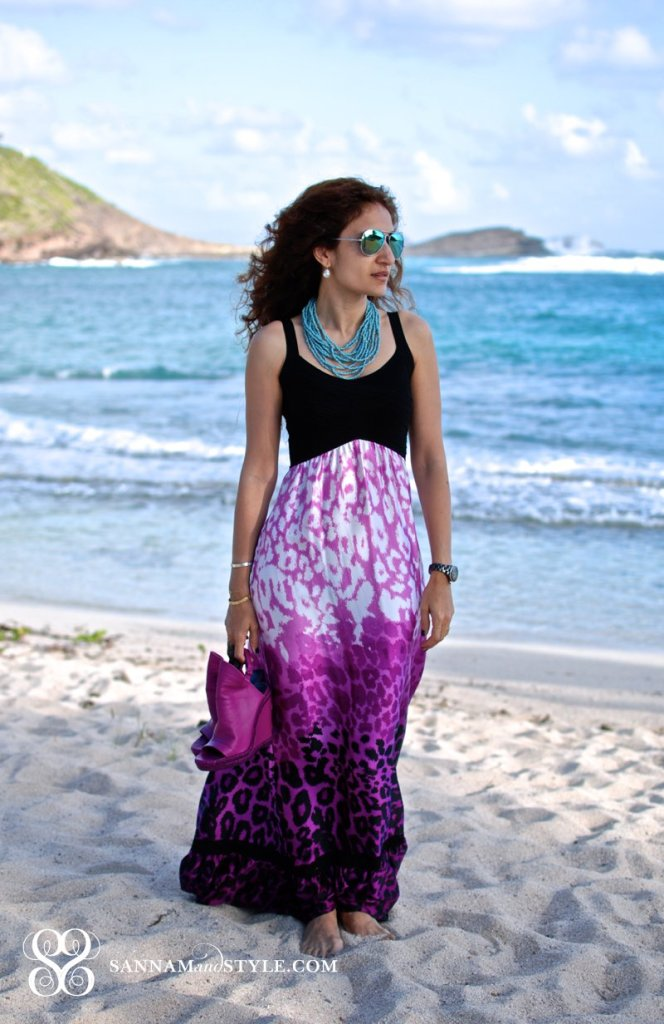 bebe leopard maxi maxi skirt styled for st barth fashion blogger street style what to wear to an island vacation