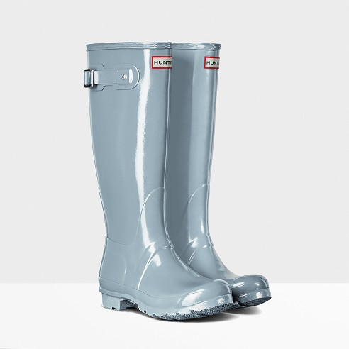 tuesdayshoesday chic rain boots hunter boots baby blue boots fun rain shoes