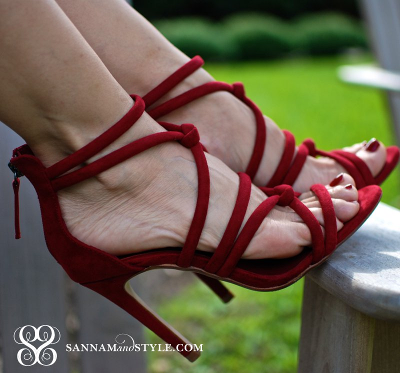 sexy red shoes strappy zara shoes