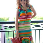 Beach Style: Stripe Sundress & Fun Heels