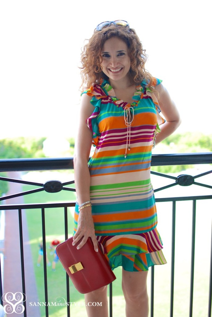tray reese dress summer vacay outfit beach style casual chic beach style pop of color stripes outfit 30a style