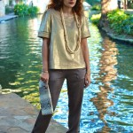 Casual Cool: Gold Top & Slouchy Pants