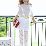 Beach Style:  White Maxi, White Top & Fun Shoes