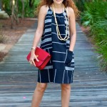 Luxe for Less Beach Style:  Linen Black Dress & Aquazzura Sexy Thing Shoes