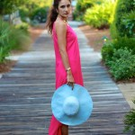 Shocking Pink Maxi & Touches of Gold