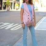 NYC:  Sleeveless Blazer & Stripes