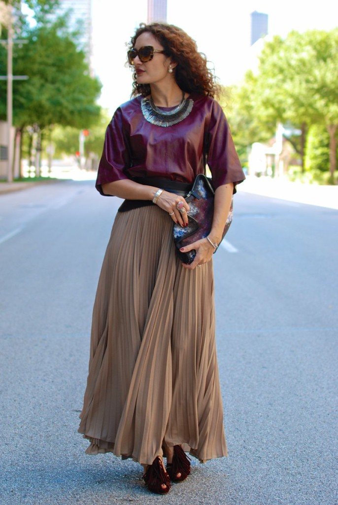 leather top maroon for fall fall trends union jack clutch alexander mcqueen clutch stella dot pegasus necklace bcbg corset belt louboutin fringe heels houston fashion blogger houston personal stylist