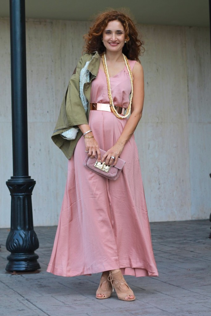 army green jacket sequin sleeve jacket anthropologie hei hei anarok pink ands green outfit chic dress first date outfit feminine ands masculine mix chanel velvet clutch aquzzzura so sexy sandals