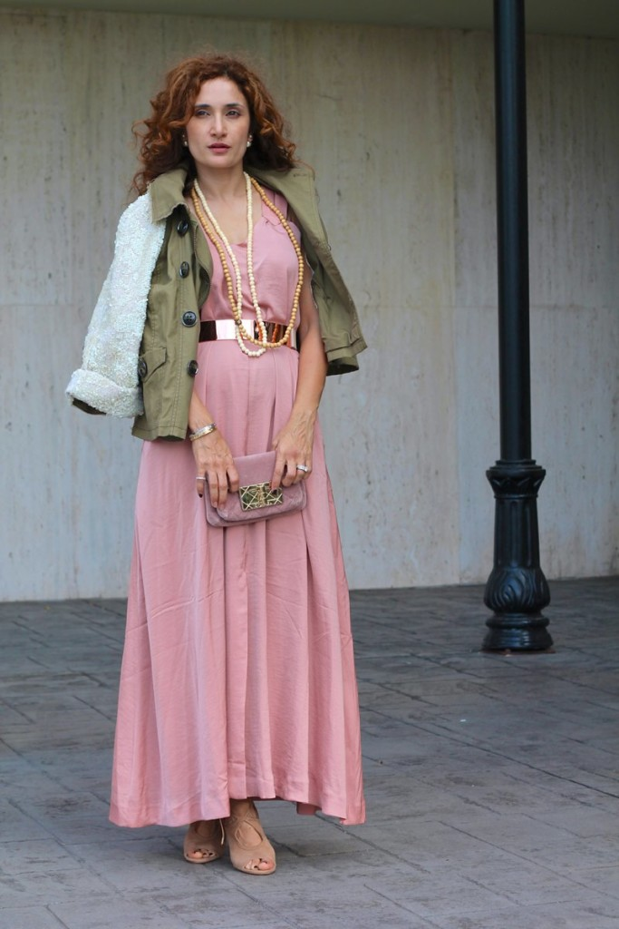 army green jacket sequin sleeve jacket anthropologie hei hei anarok pink ands green outfit chic dress first date outfit feminine ands masculine mix chanel velvet clutch aquazzura so sexy sandals