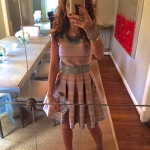 Love at First Sight:  Stripes & Fit and Flare dress