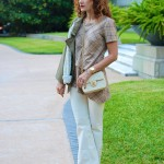 Flares, Long Tunic and Sequin Sleeve Jacket