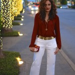 White Flares & Red Tunic
