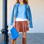 Brown & Blue:  Tall fringe Boots, Denim & Leather (and Cyber Monday picks)