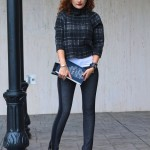 Plaid Crop Top & Lace-Up Booties