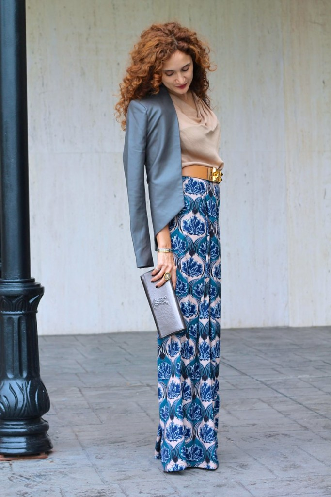 hermes studded belt Palazzo Pants wide legged printed pants shopbop sale chic casual wear houston fashion blogger how to style palazzo pants petite style