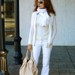 Winter White Casual:  Hoodie & Flats