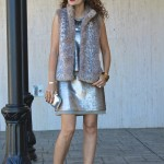 Valentine's Day:  Sequin Dress & Leopard Vest