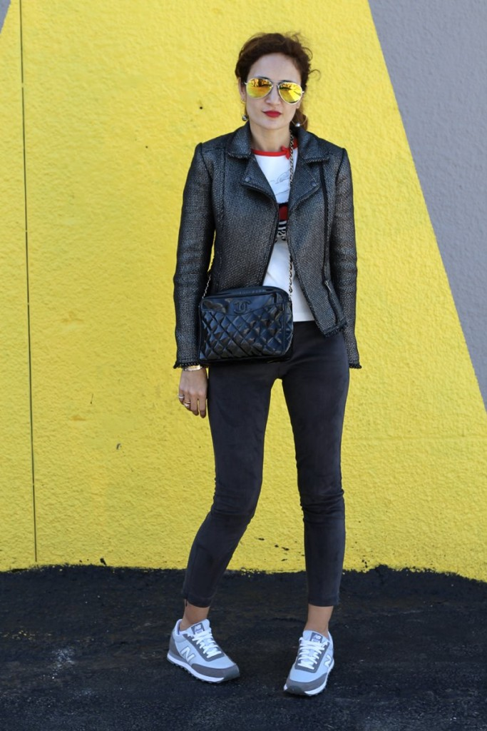 gray suede leggings fun casual outfit chic outfit itsbanana houston fashion blogger spring trends