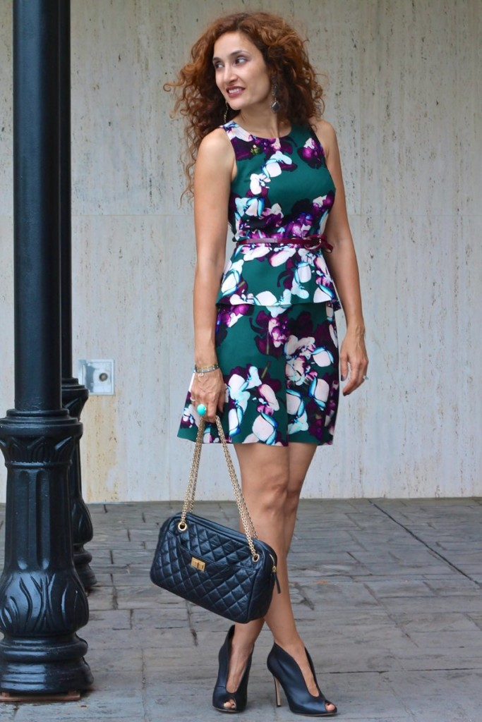 floral dress chanel black black gianvito rossi booties curly hair fashion trend florals spring fashion
