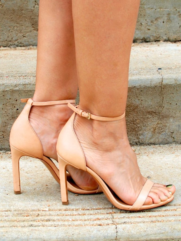 nude heels chic heels barely there sandals go with every outfit shoes sexy shoes