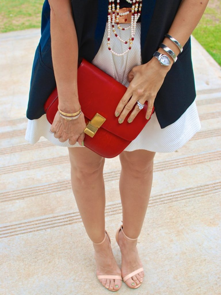 chic accessories sleeveless vest summer style curly hair petite blogger start weitzman shoes neutral shoes celine bag
